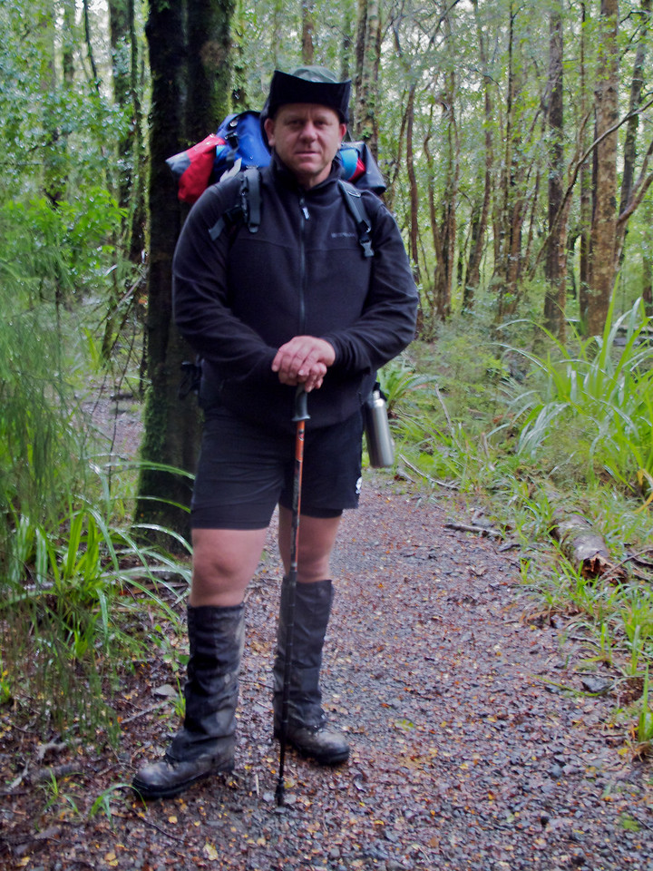 Tony on the Atiwhakatu Track May 2011