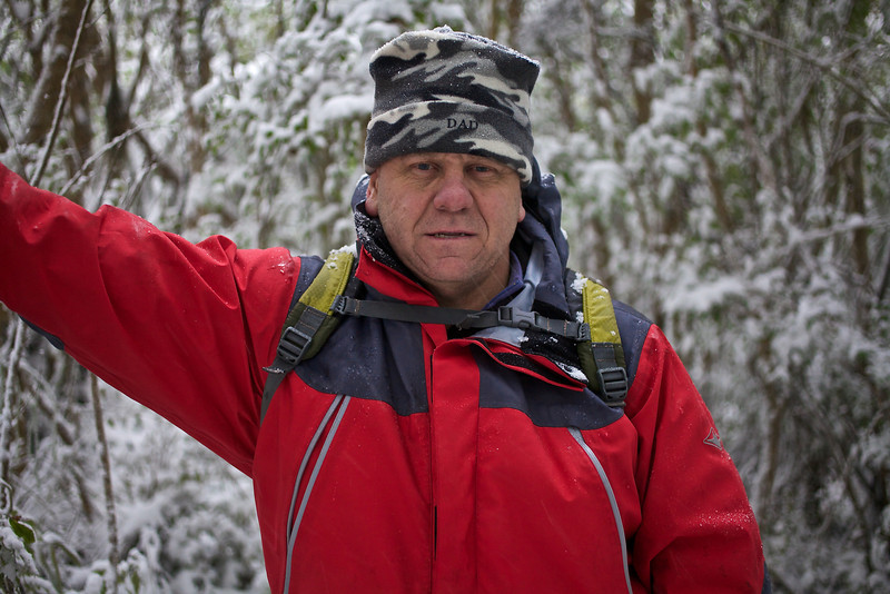 Tony Pylon Walk in the snow Aug 2011