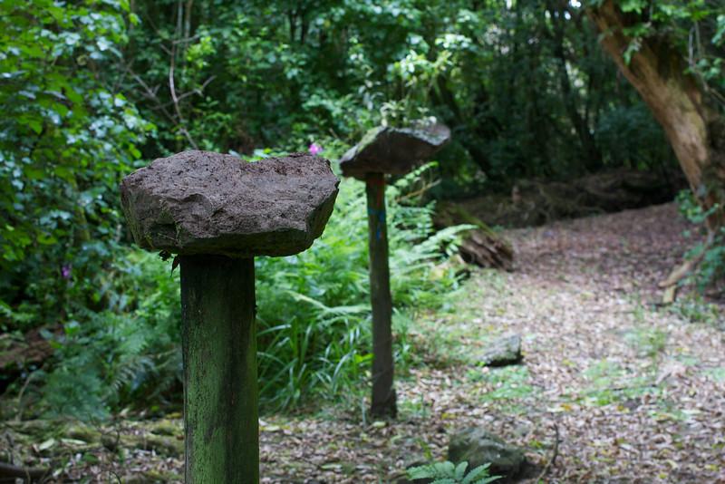 Keith George Memorial Park Rocks on Posts Dec 2010
