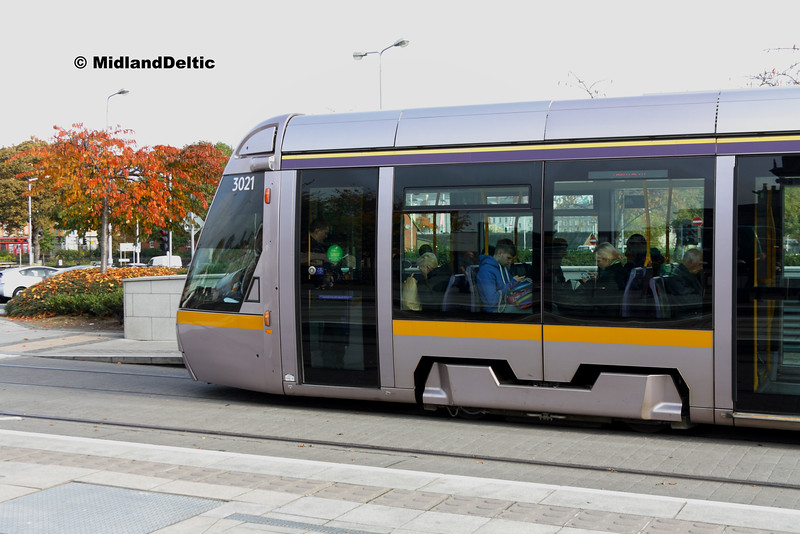 LUAS 3021, Heuston, 31-10-2016