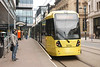 Tram # 3018 <br /> <br /> Arrives at Mosley Street on an Altrincham Service