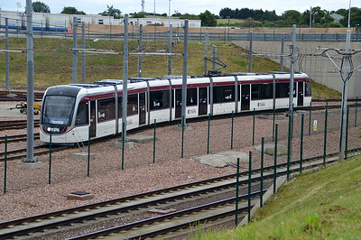 Edinburgh Tram 262 seen on Gogar Depot  17/07/15.