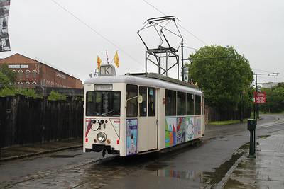 392 4w Single Deck German Tram sen at Summerlee Heritage Park, Coatbridge, Scotland  02/07/12