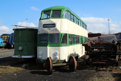 Ex Blackpool Double Decker Tram 702 at the East Lancs Railway  13/04/13.
