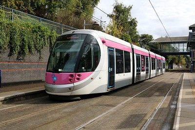 West Mids Tram No33 at The Hawthorns  07/10/17