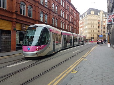 West Mids Tram No30 at Grand Central   07/10/17