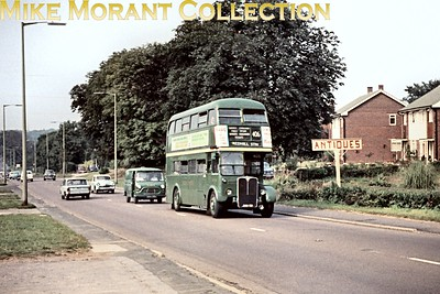 London Transport green liveried country RT 1103 on route 406 at Lower Kingswood photographed on 28/6/67. [Mike Morant collection]