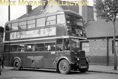 London Transport 'Park Royal' Daimler bus no. D209, registration HGF 886, operating route 115 to Wallington at ??????? Taken i9n 1952/3. The location is currently a mystery. [Mike Morant collection]