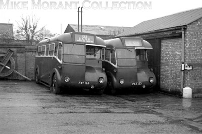 A pair of nicely posed London Transport CR single deckers. On the left is CR10 and on the right is CR17 but no further information can be gleaned from the sleeve note. I suspect that this was taken at Streatham bus garage on account of the 133 route number. [Mike Morant collection]