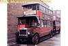 <b>MUSEUM OF BRITISH TRANSPORT, CLAPHAM</b><br> LT liveried, LGOC NS 1995 double decker bus parked outside the rear of the museum in 1969.<br> [<i>Mike Morant</i>]