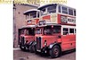 <b>MUSEUM OF BRITISH TRANSPORT, CLAPHAM</b><br> London Transport LT 165 and ST 821 double decker buses parked outside the rear of the museum in 1969.<br> [<i>Mike Morant</i>]
