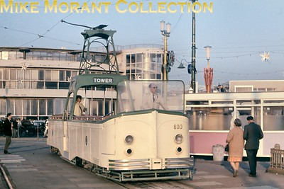 Blackpool Boat tramcar no. 600 at Starr Gate. [Original slide by Mike Morant]