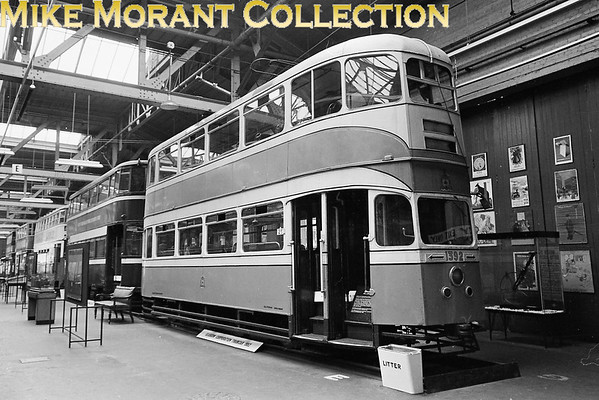<b>MUSEUM OF BRITISH TRANSPORT, CLAPHAM</b><br> Glasgow Corporation 'Cunarder' tram no. 1392. This was the last all new double deck tramcar built in the Uk and is conserved at preserved in Glasgow's Riverside Museum.<br> [<i>Mike Morant</i>]