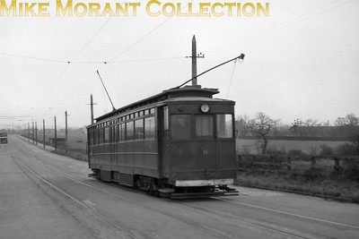 Former GCR car no. 12 arriving at Immingham Docks tram station on the Grimsby & Immingham Light Railway. [Mike Morant collection]