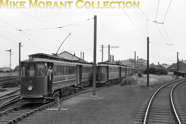 Former Gateshead tram no. 23 at Pyewipe depot on the Grimsby & Immingham Light Railway.<br> [<i>Mike Morant collection</i>]