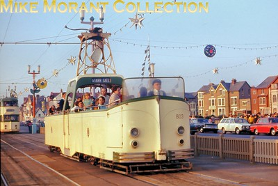 Blackpool Boat tramcar no. 603. [Original slide by Mike Morant]