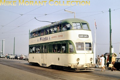 Blackpool balloon tramcar no. 704. [Original slide by Mike Morant]