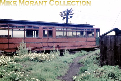 Grounded body of a former GCR tram at Pyewipe depot on the Grimsby & Immingham Light Railway photographed by yours truly in the first week of September 1960. [Original slide by Mike Morant]