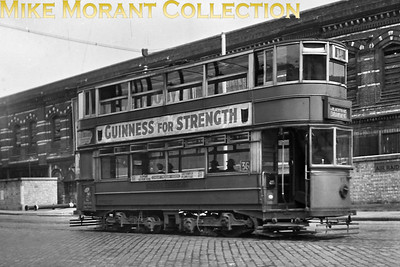 On 17/8/1945 London Transport, ex-East Ham tram no. 93 is in Blackfriars Bridge Road approaching that Thames bridge on service 36 inbound from Abbey Wood via Elephant & Castle and St.Georges Circus to the Victoria Embankment whence it will return over Westminster Bridge to Abbey Wood via Lambeth North and the 'Elephant'. [R. H. G. Simpson / Mike Morant collection]