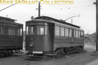 Former Gateshead tram no. 30 at Immingham Docks tram station on the Grimsby & Immingham Light Railway. [Mike Morant collection]