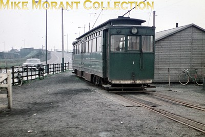 Former GCR tram no. 1 at Pyewipe on the Grimsby & Immingham Light Railway photographed by yours truly in the first week of September 1960. [Original slide by Mike Morant]