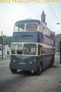 Bradford trolleybus no. 782 was an ex-Llanelli Karrier W of 1945 rebodied by East Lancs in 1956. [Mike Morant collection]