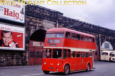 Manchester trolleybus no. 1330. Kodachrome processing date JUL66. [Mike Morant collection]