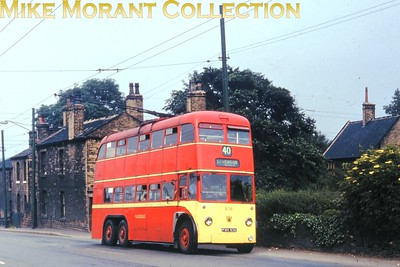 Huddersfield trolleybus no. 636. Kodachrome processing date JUL67. [Mike Morant collection]