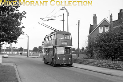 Doncaster Corporation trolleybus Fleet no.: 377 Registration: CDT 638 Chassis: Karrier Body: Park Royal Entered service: 1945 Withdrawn: 1964 Location: Carr House Road [Mike Morant collection]