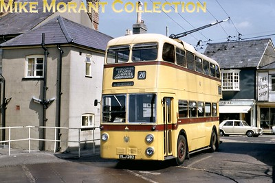 Bournemouth Corporation trolleybus Fleet no.: 282 Registration: YLJ 282 Chassis: Sunbeam Body: Weymann Entered service: 9/59 Withdrawn: 4/69 Christchurch turntable, April 1967 [Mike Morant collection]