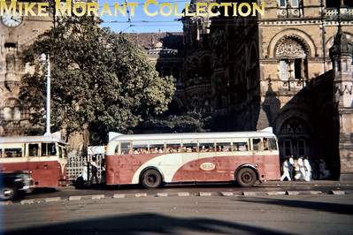 An unidentified Bombay single-decker bus photographed circa 1956/7. BEST = Bombay Electric Supply and Transport [Mike Morant collection]