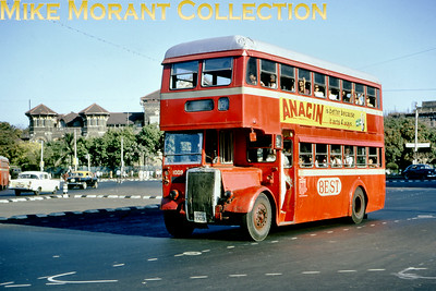 Bombay double-decker Leyland type OPD2/9 bus no. 1009 taken on 24/2/68.