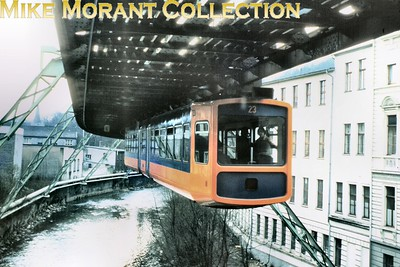 Wuppertaler Schwebebahn  -  Germany's unique overhead monorail tram in Wuppertal. [Mike Morant collection]