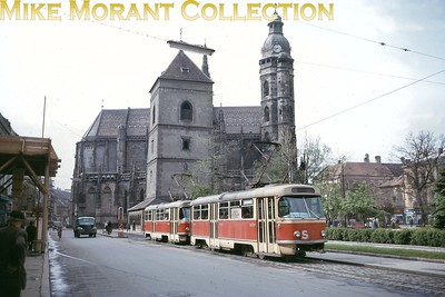 Czechoslovakian tram. Košice car no. 247 is depicted here on 26/8/66. [Mike Morant collection]