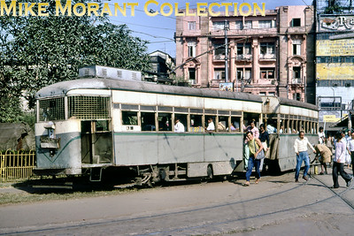 Calcutta, as it was back then, tramcar no. 27 taken in November 1978.