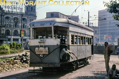 Calcutta, as it was back then, works tram no. T.C.2 taken in November 1978.