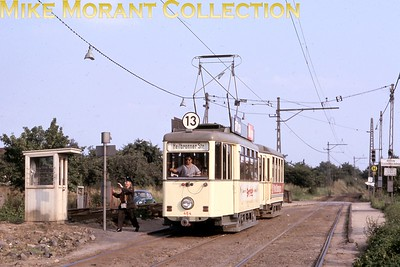 German tram. Frankfurt (Oder) car no. 464 taken on 2/7/66. [Mike Morant collection]