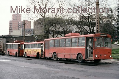 Transportes Urbans del Gran Bilbao single deck trolleybus no. 960 taken on 26/3/78. I have no further information on this vehicle. [Mike Morant collection]