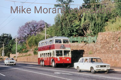 Johannesburg, South Africa, trolleybus dated 9/11/77 BUT 2nd series 1956 Fleet no. 663 Dunkeld route 2A [Mike Morant collection]