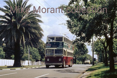 Johannesburg, South Africa, trolleybus dated 22/11/76 BUT 1st series 1948 Fleet no. 620 Dunkeld route 2A [Mike Morant collection]