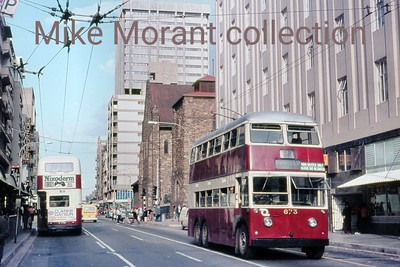 Johannesburg, South Africa, trolleybus dated 8/3/78 BUT 2nd series 1956 Fleet no. 673 Dunkeld route 2A [Mike Morant collection]