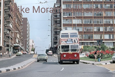 Johannesburg, South Africa, trolleybus dated 11/3/76 BUT 2nd series 1956 Fleet no. 632 Highlands route 13 [Mike Morant collection]