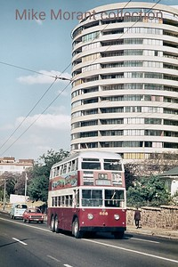 Johannesburg, South Africa, trolleybus dated 5/11/75 BUT 2nd series 1956 Fleet no. 658 Highlands route 13 [Mike Morant collection]