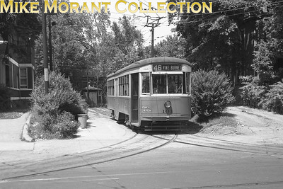 Cincinnati Street RailwayA 1948 shot of car 101 a 1928-built Peter Witt car, in the wye off Rockdale Avenue west of Reading Road at the end of Route 46 Vine-Burnet. CAPTION TEXT KINDLY SUPPLIED BY CLIFF SCHOLES.