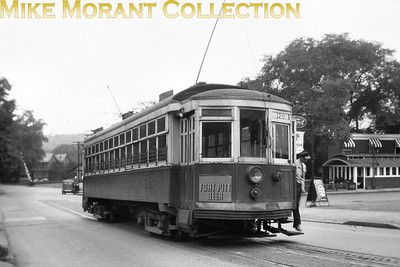 Altoona & Logan Valley Electric RailwayCar 178, a 1913 St. Louis Car Co. built car at the end of the El Dorado line at Sixth Avenue & 58th Street in 1946.CAPTION TEXT KINDLY SUPPLIED BY CLIFF SCHOLES.