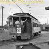 """<b>Twin City Rapid Transit</b><br>Car 1269, built in 1909 in the Company's Snelling shops.  This is a rear view of a 'gate' car, taken in the Eustis wye off Como Avenue, Minneapolis, in 1950.<br><font size=""""1"""">CAPTION TEXT KINDLY SUPPLIED BY CLIFF SCHOLES.</font>"""