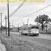 "<b>Twin City Rapid Transit</b><br>Car 425, a 1949 St. Louis Car Co. built PCC, on Como Avenue in Minneapolis near the Eustis Avenue wye in 1950.<br><font size=""1"">CAPTION TEXT KINDLY SUPPLIED BY CLIFF SCHOLES.</font>"
