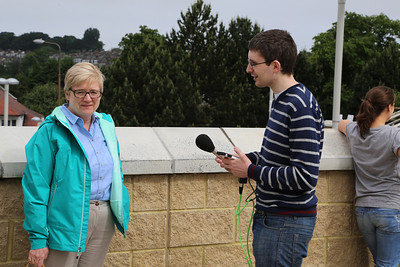 Herself having been interviewed fro Radio Froth.  I declined!