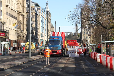 Princes Street is being reopened to pedestrians and cyclists for the festive period.   The barriers come down 22nd November 2011