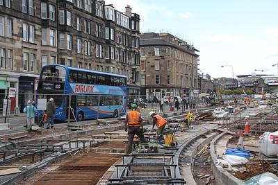 Haymarket tram stop looking east 16 May 12